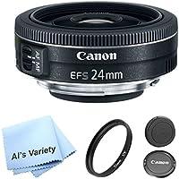 Canon EF-S 24mm f/2.8 STM Lens Bundle- International Model