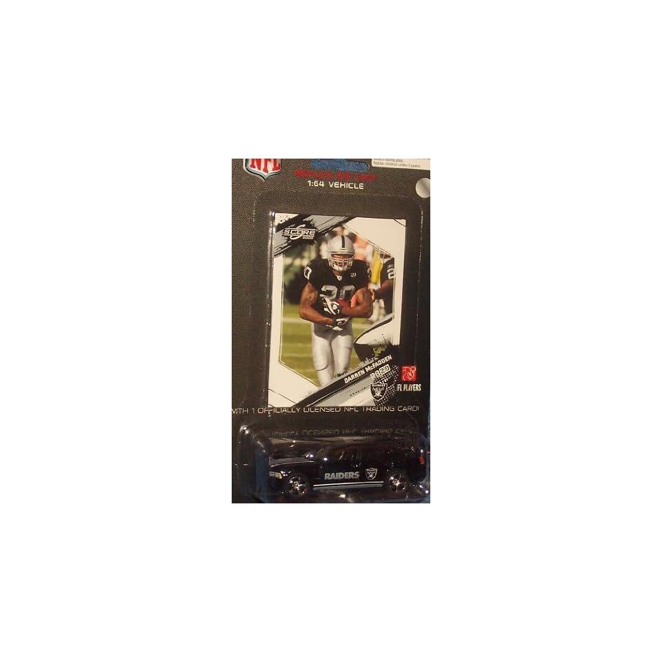 Oakland Raiders NFL Diecast 2009 Dodge Charger with Darren McFadden Score Trading Card Press Pass Football Team Collectible Car