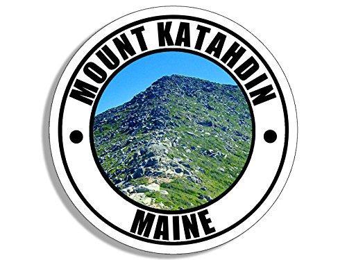 Round MOUNT KATAHDIN Sticker (climb maine (Climb Sticker)