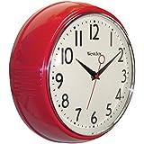 Westclox 32042R Retro 1950 Kitchen Wall Clock, 9.5-Inch