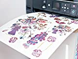 custom sticker printer - DIY Temporary Tattoo Paper A4 Size - Home Inkjet Laser Printers Printable Custom Fake Tattoo Stickers (10 Sheets)