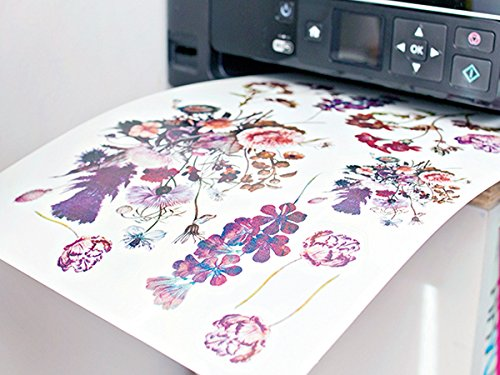 DIY Temporary Tattoo Paper A4 Size - Home Inkjet Laser Printers Printable Custom Fake Tattoo Stickers (10 Sheets)
