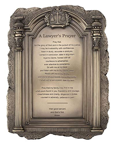 (Amazon Exclusive - Scales of Justice - A Lawyer's Prayer Plaque Desktop or Wall Mount - Perfect Present for Lawyers and Law School Students)