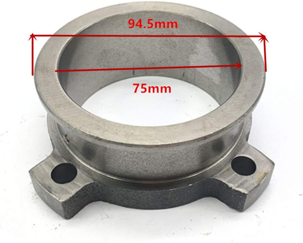 Toygogo 3 To 3 Steel Exhaust V-band ADAPTER Vband V Band Adaptor Flange GT35 T3