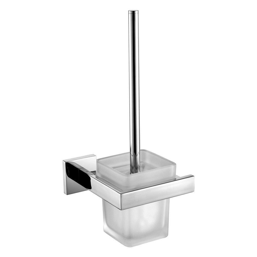 Leyden Wall Mount Chrome Finish Stainless Steel Material Toilet Brush Holder
