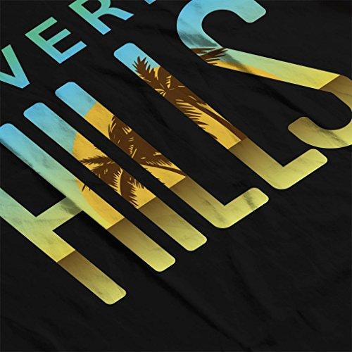 T shirt Text Beverly Women's Sunset Coto7 Hills Black CPfwXgCq