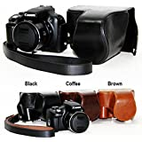 zdMoon Coffee Leather case bag for Canon POWERSHOT SX50 HS SX40 Digital Camera