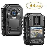 1296P HD Police Body Camera,64G Memory,CammPro Premium Portable Body Camera,Waterproof Body-Worn Camera
