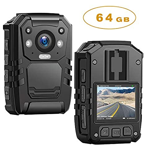 - 51ipOtK5FrL - 1296P HD Police Body Camera,64G Memory,CammPro Premium Portable Body Camera,Waterproof Body-Worn Camera with 2 Inch Display,Night Vision,GPS for Law Enforcement Recorder,Security Guards,Personal Use