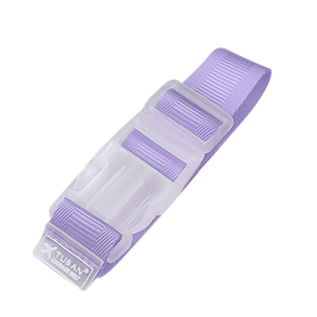 SUJING Luggage belt jacket gripper, luggage shoulder strap belt travel accessories (Purple)