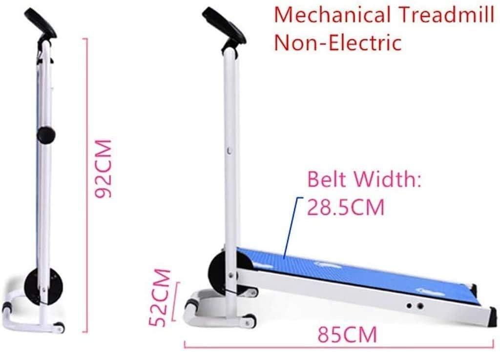 Mu Xin Folded Tapis roulant Mini Macchina per Camminare da casa,Tapis roulant Meccanico Portatile con Rullo,Adatto a casa e in Ufficio