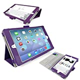 iTALKonline Apple iPad Mini 3 Tablet Retina Display (Wifi + 3G) Purple Stand & Type PU Leather Executive Multi-Function Wallet Case Cover Organiser Flip with Built in Typing Stand