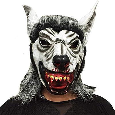 Mascara De Halloween Halloween Cabeza Feroz Máscara De Goma Animal ...