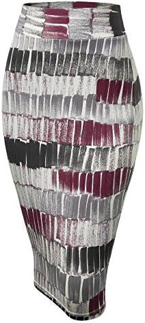 MBJ Womens Slim Fit Midi Pencil Skirt - Made in USA