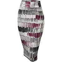 MBJ Womens Slim Fit Midi Pencil Skirt - Made in USA