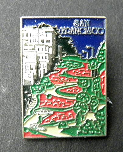 (Pin for Jackets - California SAN Francisco Lombard Street Lapel PIN Badge 1 INCH - Accessories for Men and Women)
