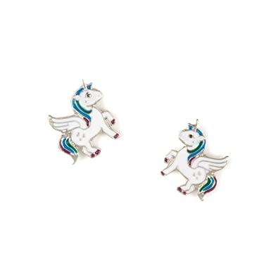 b9c4bd4ed Image Unavailable. Image not available for. Color: Claire's Girl's Flying  Unicorn Stud Earrings