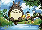 water based mixing medium - Greek Art Paintworks Paint Color By Number Kit,My Neighbor Totoro,12-Inch by 16-Inch