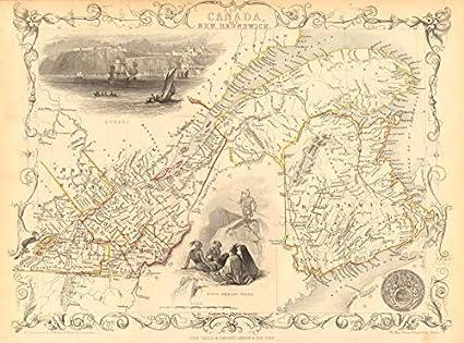 Map Of Canada Quebec City.Amazon Com East Canada New Brunswick Quebec Quebec City View