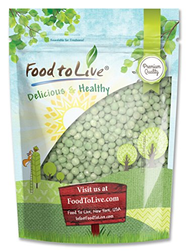 Green Whole Peas (Great for Green Curry, Kosher, Raw, Dried) by Food to Live - 1 Pound