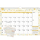 """Mokani Wall Calendar Oct. 2020 - Dec. 2021, 15 Months Large Monthly Wall Desk Calendar with Plastic Cover: 17""""x12"""", Perfect for Planning for Home or Office, with Bonus Planner Stickers"""