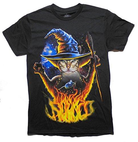 Halloween Kitty Cat Meowlock T-shirt (Cat Halloween Outfit Ideas)