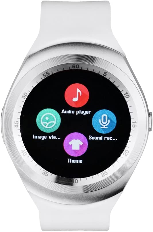 Y1 SmartWatch Touch Screen Support Micro SIM Card with Bluetooth 3.0 Camera Sleep Monitor Outdoor Fitness for IOS Android (WHITE)