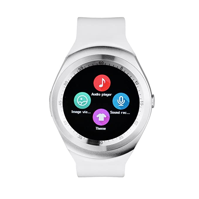 ebc32784b9e Image Unavailable. Image not available for. Color  Y1 SmartWatch Touch  Screen Support Micro SIM Card with Bluetooth ...