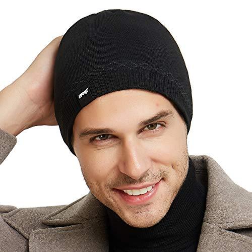 aa47e366eaa OMECHY Mens Watch Hat Winter Warm Knitting Hats Plain Cuffed Toboggan  Beanie Skull Cap 4 Colors - KAUF.COM is exciting!