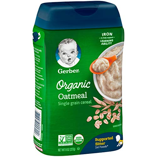 Gerber Organic Single-Grain Oatmeal Baby Cereal, 8 Ounce (Pack of 6) by Gerber Baby Cereal (Image #3)