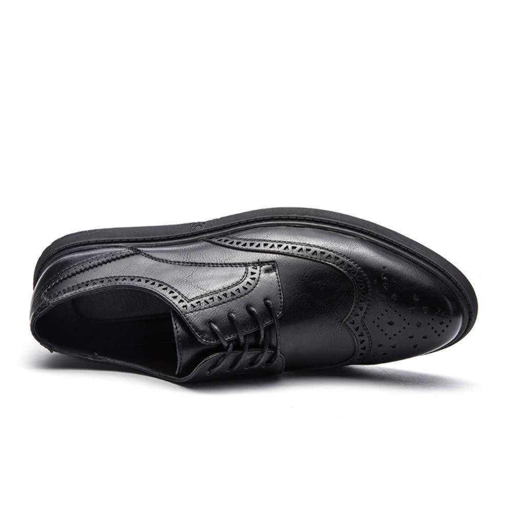 5313cbc95a39 Hilotu Clearance Men's Casual Soft Bottom Regular Cotton Warm Brogue Shoes  Wingtip Comfort Formal Business Oxfords (Color : Black, Size : 7.5 D(M) US)