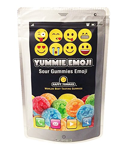 Colorful Emoji Sour Gummies 7oz Package