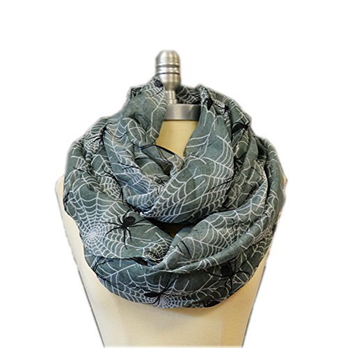 (SCARF_TRADINGINC Spider X-Large Infinity Scarf Loop Cowl (Spider)
