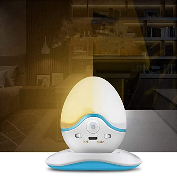 PDDXBB Dc5V 0.7W USB Recargable Led Luz Nocturna Pir Sensor ...