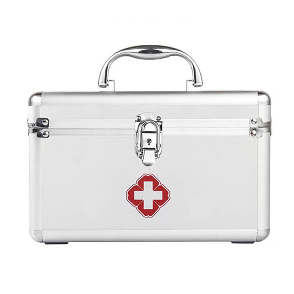 First Aid Box, Medical Box, Carrying Handle, Carry Strap Storage Container Box for Home, Travel Workplace