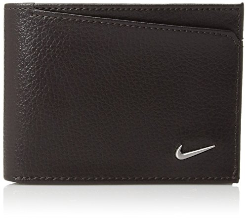 Nike Men's Pebble PASSCASE Billfold Wallet, brown, One ()