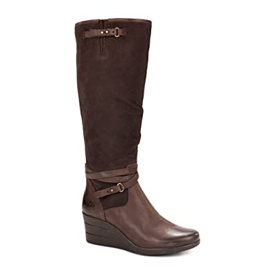ef449d48b67 Amazon.com | UGG Australia Womens Lesley Boot Stout Size 11 | Knee-High