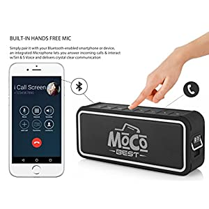 Portable Waterproof Bluetooth 20W Speaker & Power Bank – Wireless Indoor & Outdoor Speaker w/Backlighting, Microphone, USB Charger & 3.5mm Audio Cable – Compatible w/Micro SD, iPhone, Android & iPod