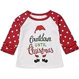 Toddler Baby Girls Unicorn Christmas Halloween Pumpkin Print Long Sleeve Cotton Tops Raglan T-Shirt Holiday Clothes