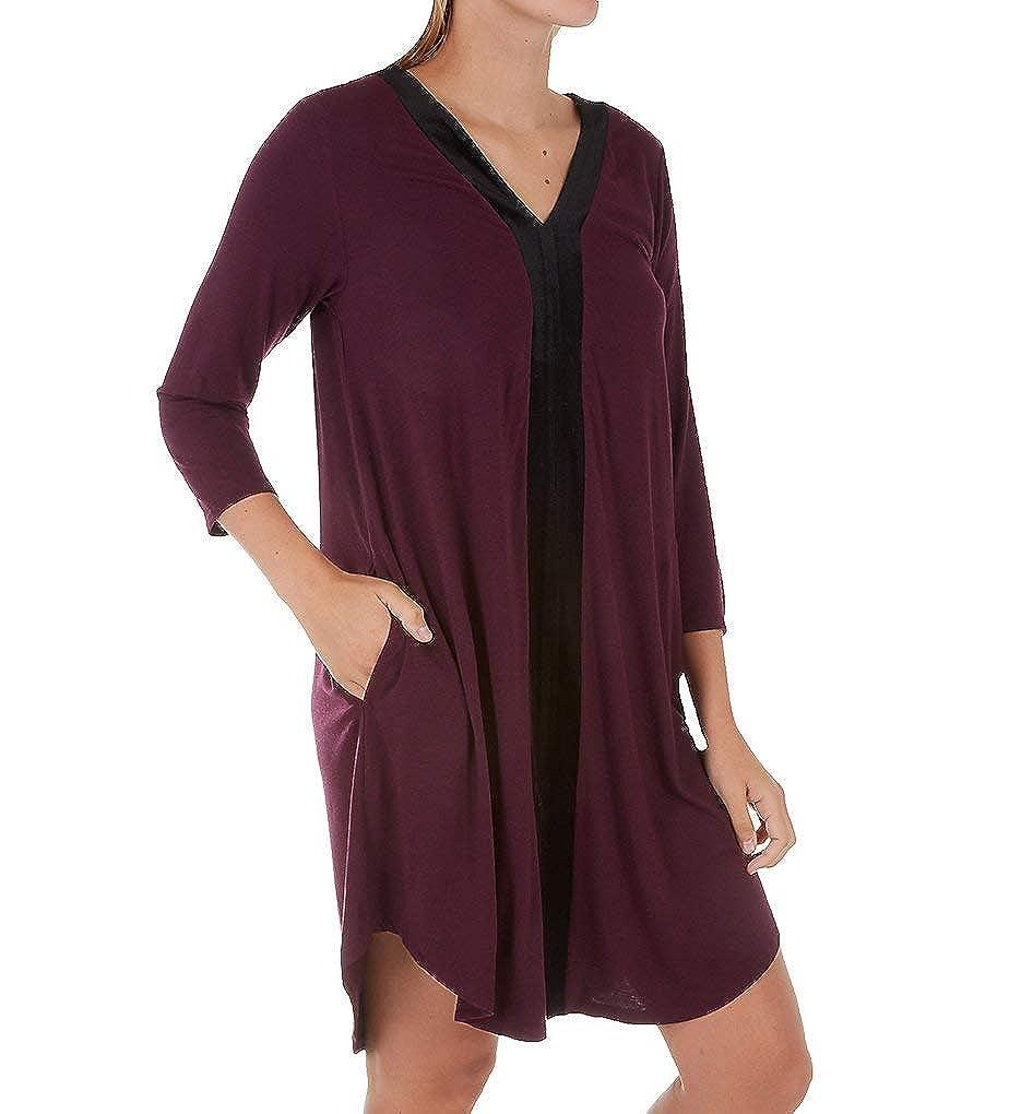 Donna Karan Sleepwear Hint of Velvet Sleepshirt (D236943) at Amazon Women s  Clothing store  30ed46f46