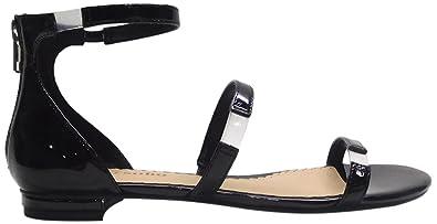 fbb9e7b9ca1f ZIGI SOHO Women s Pamina Flat Sandal Black Patent 10 Medium US