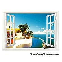 3D Fake Window Various Seascape Home Decal Room Decor Mural MC-023