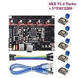 BIGTREETECH Direct SKR V1.4 Turbo Control Board + 5pcsTMC2209 V1.2 Mode Driver 3D Printer Parts with LPC1769-120MHz Frequency VS SKR V1.3 / V1.4