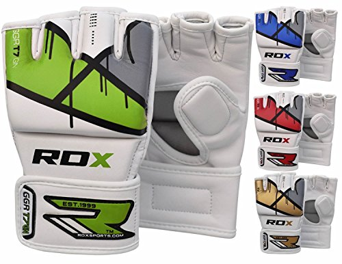 Cage Fighter Mma - RDX MMA Gloves Grappling Martial Arts Punching Bag Maya Hide Leather Mitts Sparring Cage Fighting Combat Training