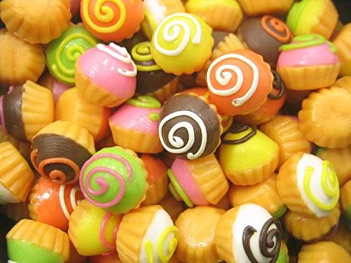 Dollhouse Miniature Food Lot10 French Cream Eclair Bakery Dessert 3574