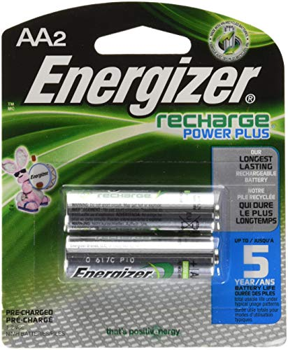 Energizer Rechargeable Batteries, AA Size, 2-Count