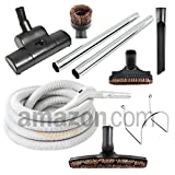Plastiflex AMTRB35 Central Vacuum Cleaning Accessories with 35' Hose and Air Driven Power Nozzle