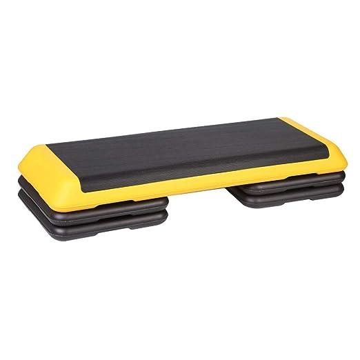 Aerobic Step Paso aeróbico ajustable en altura de 3 niveles con ...