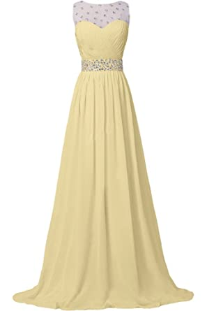 Missdressy Damen Elegant Chiffon Lang Schleppe Tuell Steine Faltenwurf  Abendkleider Partykleider Hochzeitsgast kleider-32-