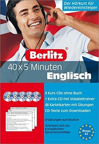 40 x 5 Minuten Englisch - Set. 5 Audio-CDs und 48 Karteikarten: Der Hörkurs für Wiedereinsteiger (Berlitz 40 x 5 Minuten)